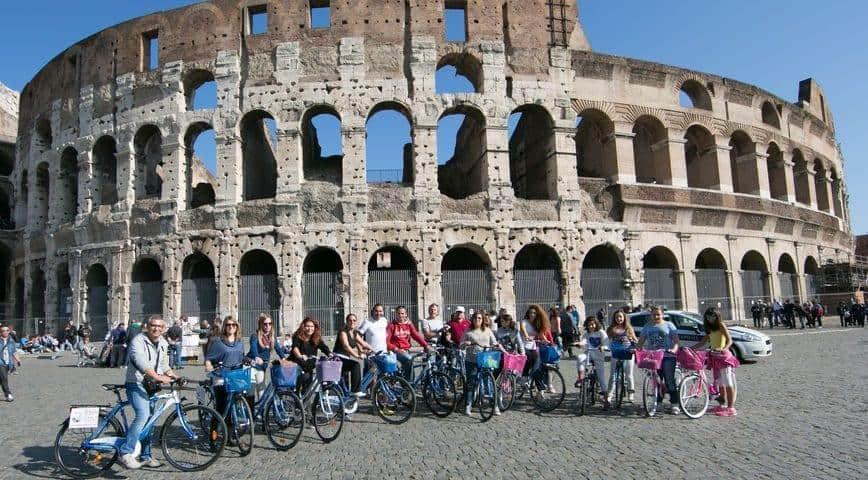 סיור באופניים בעיר רומא