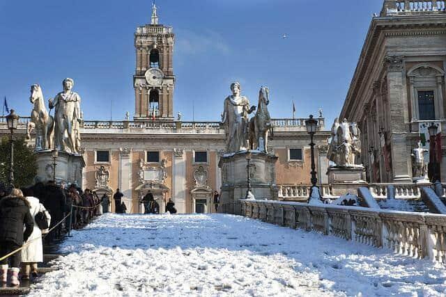 רומא בשלג
