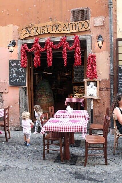מסעדה מקומית ברומא